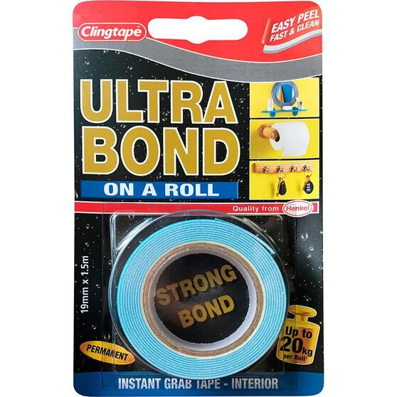 Ultrabond Double Sided Tape, 19mm x 1.5m, , scaau_hi-res