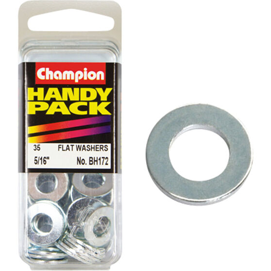 Champion Flat Steel Washers - 5 / 16inch, BH172, Handy Pack, , scaau_hi-res