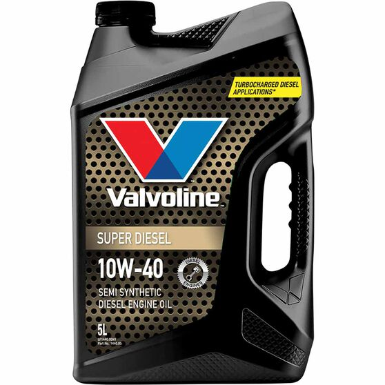 Valvoline Super Diesel Engine Oil 10W-40 5 Litre, , scaau_hi-res