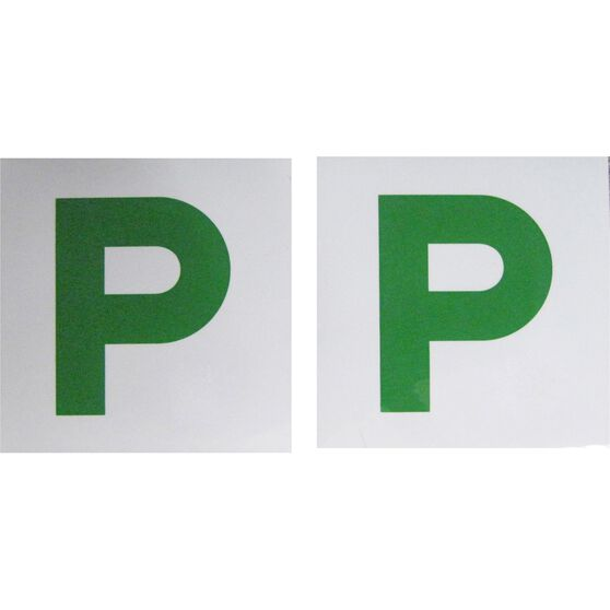 SCA P Plate - Magnetic, Green, NSW and QLD, 2 Pack, , scaau_hi-res