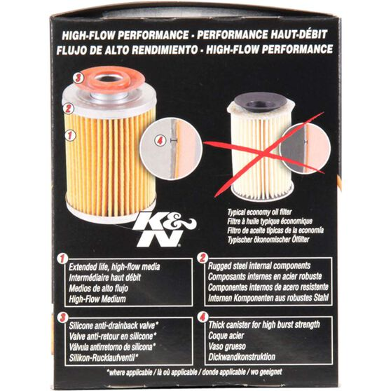 K&N Wrench Off Performance Gold Oil Filter  HP-1007 (Interchangeable with Z160), , scaau_hi-res