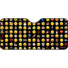 Emoji Sunshade - Black, Accordion, Front, , scaau_hi-res