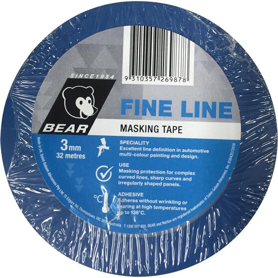 Norton Thin Line Masking Tape - 3mm x 32M, , scaau_hi-res