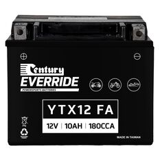 Century Powersports Small Engine Battery YTX12-BS FA, , scaau_hi-res