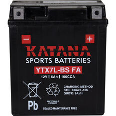 Katana Powersports Small Engine Battery YTX7L-BS FA, , scaau_hi-res