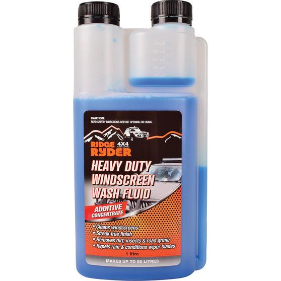Ridge Ryder Windscreen Wash Heavy Duty - 1 Litre, , scaau_hi-res