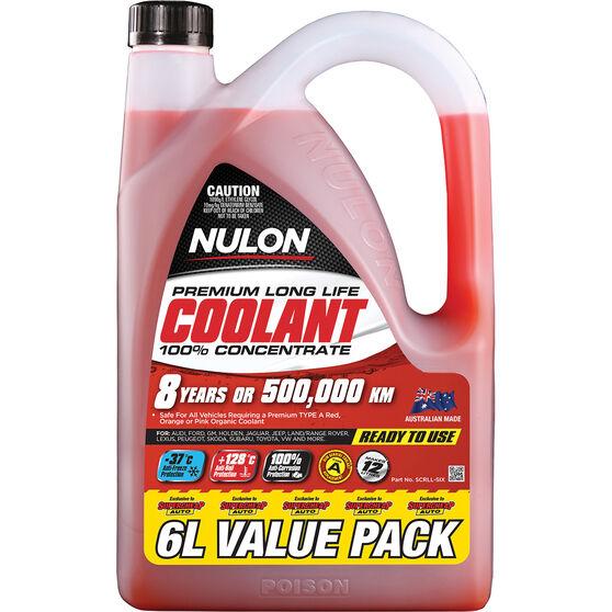 Nulon Red Premium Long Life Coolant Concentrate 6 Litre, , scaau_hi-res