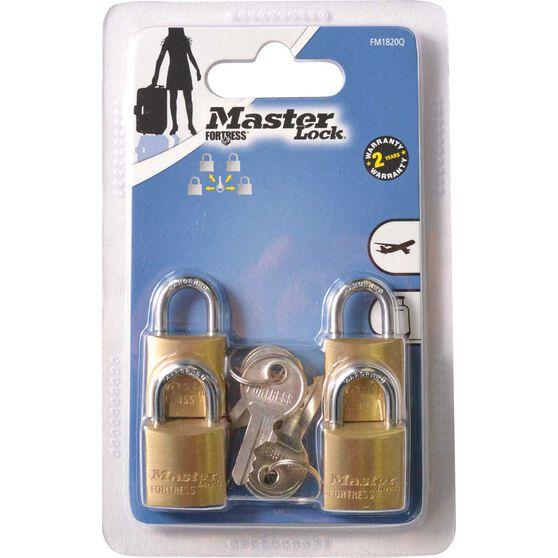 Master Lock Fortress Padlock - 20mm, 4 Pack, , scaau_hi-res