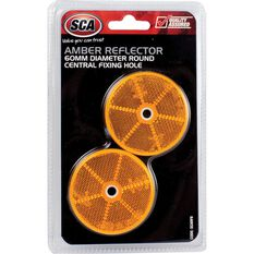 SCA Reflector - Amber, 60mm, Round, 2 Pack, , scaau_hi-res