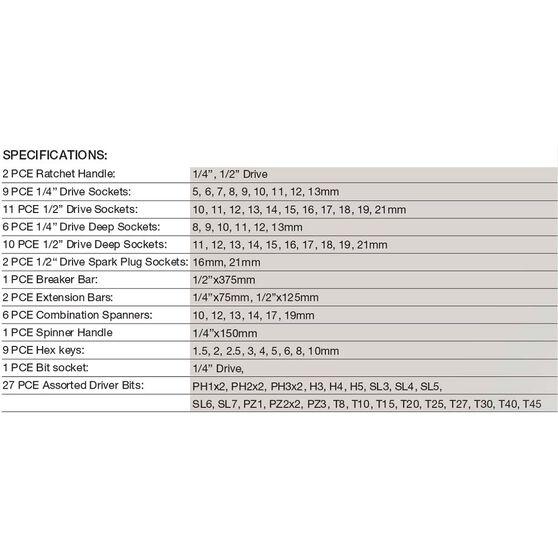 ToolPRO Automotive Tool Kit 87 Piece, , scaau_hi-res