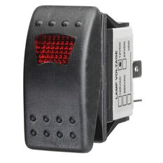 Ridge Ryder Sealed Rocker Switch - On / Off, Red LED, , scaau_hi-res