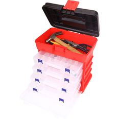Plastic Organiser - 19 Compartment x 4pk tower, , scaau_hi-res