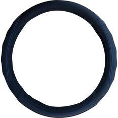 SCA Steering Wheel Cover - PU Racing, Black/Blue, 380mm diameter, , scaau_hi-res