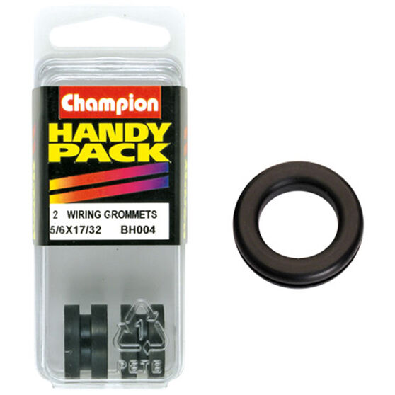 Champion Wiring Grommet - 5 / 16inch X 17 / 32inch, BH004inch, Handy Pack, , scaau_hi-res