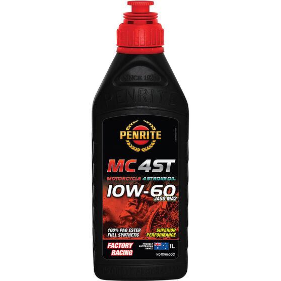 Penrite MC-4ST PAO & Ester Motorcycle Oil 10W-60 1 Litre, , scaau_hi-res