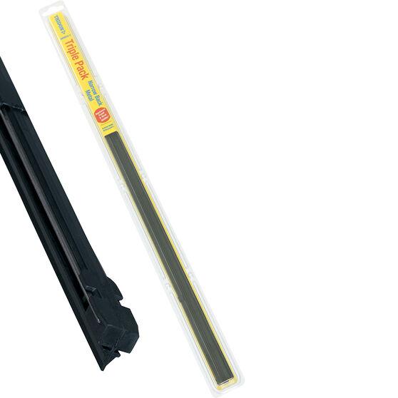 Tridon Wiper Refills - Metal Rail Narrow Back, Suits 6.5mm, 3 Pack, , scaau_hi-res