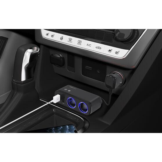 12V Dual USB & Socket Quick Charge, , scaau_hi-res