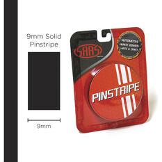 SAAS Pinstripe Solid Black 9mm x 10m, , scaau_hi-res