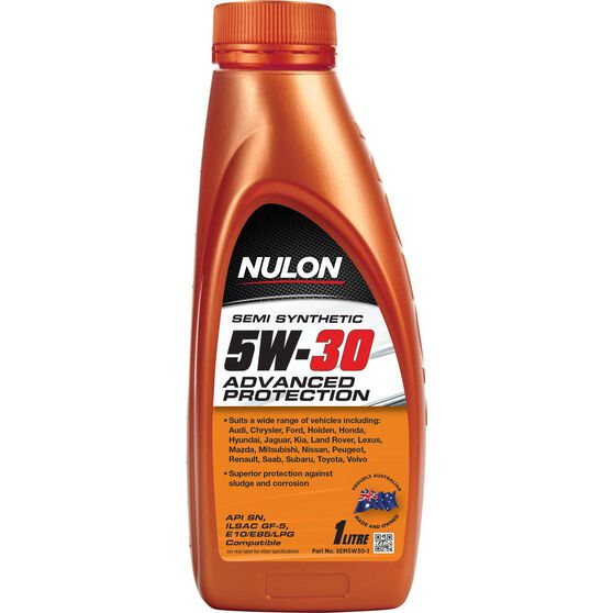 Nulon Semi Synthetic Advanced Protection Engine Oil - 5W-30 1 Litre, , scaau_hi-res