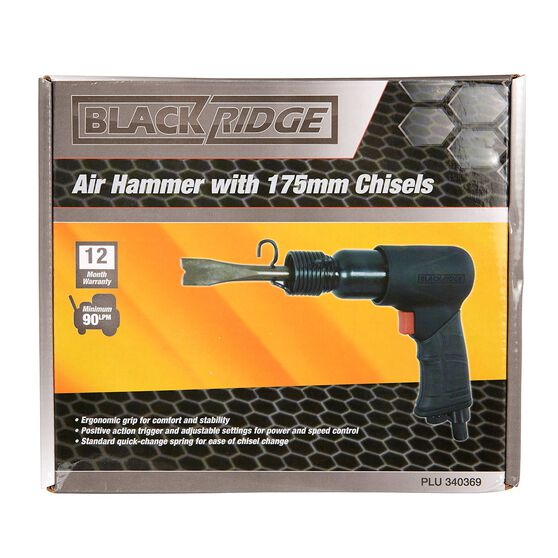 Blackridge Air Hammer & 4 Piece Chisels - 175mm, , scaau_hi-res