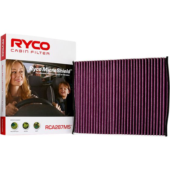 Ryco Cabin Air Filter Microshield - RCA287MS, , scaau_hi-res