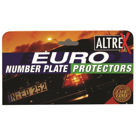 Altrex Number Plate Protector - 6 Figure, European, With Lines, 6LE, , scaau_hi-res