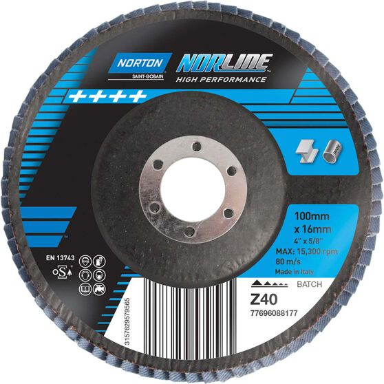 Norton Flap Disc 40 Grit 100mm, , scaau_hi-res