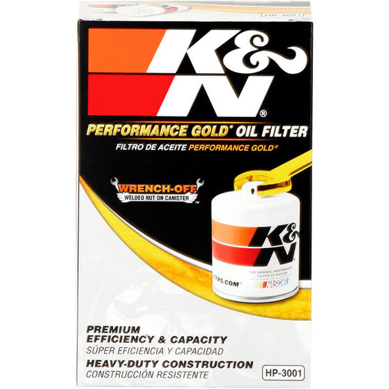 K&N Wrench Off Performance Gold Oil Filter  - HP-3001 (Interchangeable with Z9), , scaau_hi-res