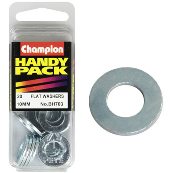Champion Flat Steel Washer - 10mm, BH703, Handy Pack, , scaau_hi-res
