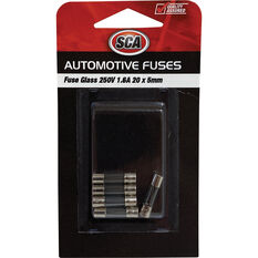 SCA Fuse Glass - GF160-3, 250V, 1.6 AMP, 5pce, , scaau_hi-res