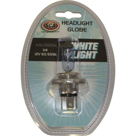 SCA White Light Performance Globes - 12V, 60/55W, H4, , scaau_hi-res