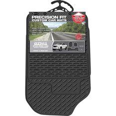 Precision Fit Custom Rubber Floor Mats 3 Pack - Suits Mazda BT50 XT/XTR/GT Dual Cab 2012+, Black, , scaau_hi-res