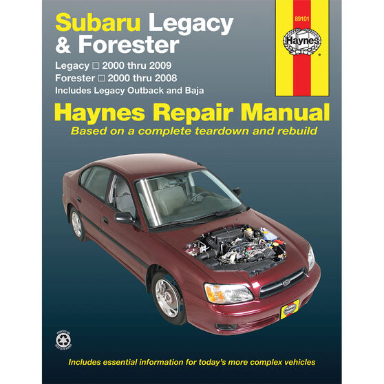 Haynes Car Manual For Subaru Forester, Liberty and Outback 2000-2008 - 89101, , scaau_hi-res