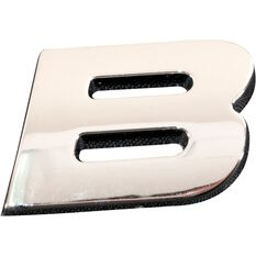 SCA 3D Chrome Badge Letter B, , scaau_hi-res