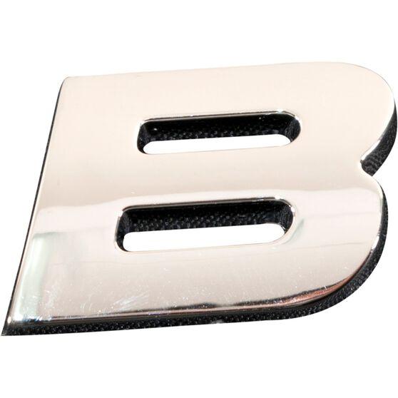 SCA 3D Chrome Badge Letter B, , scaau_hi-res