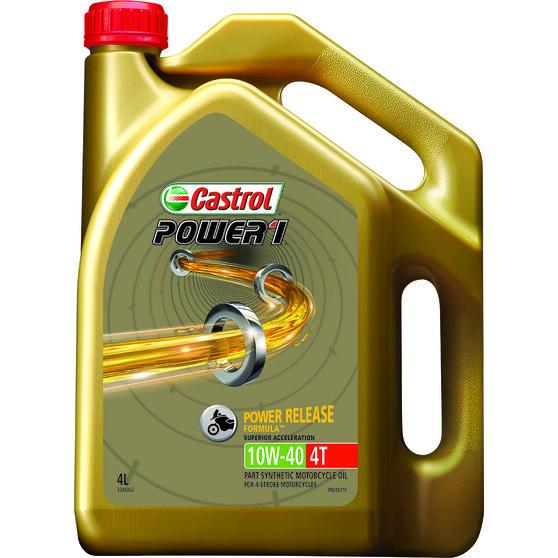 Castrol Power 1 GPS Motorcycle Oil - 10W-40, 4 Litre, , scaau_hi-res