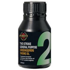 Penrite Greenkeepers 2 Stroke Lawnmower Oil - 200mL, , scaau_hi-res