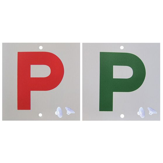 SCA P Plate - Double Sided, Red P and Green P, QLD, 2 Pack, , scaau_hi-res