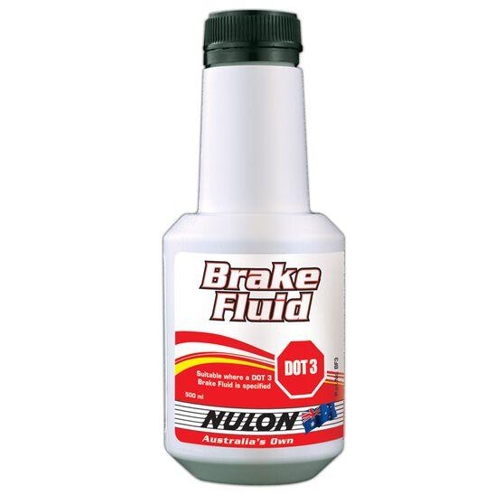 Nulon Brake Fluid DOT 3 - 500mL, , scaau_hi-res