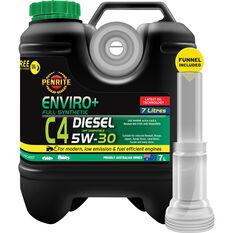 Penrite Enviro+ C4 Engine Oil 5W-30 7 Litre, , scaau_hi-res
