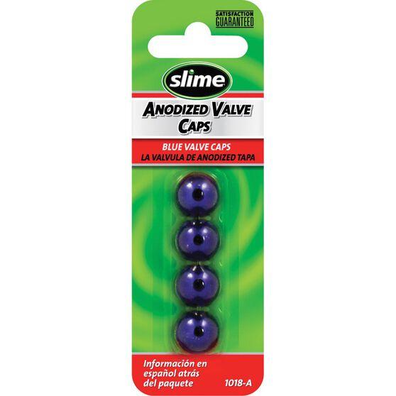 Slime Valve Caps - Anodized, Blue, 4 Piece, , scaau_hi-res