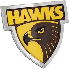 Hawthorn AFL Supporter Logo - 3D Chrome Finish, , scaau_hi-res
