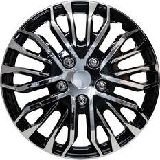 Street Series Wheel Covers Plasma 16 Inch Black/Chrome 4 Pack, , scaau_hi-res