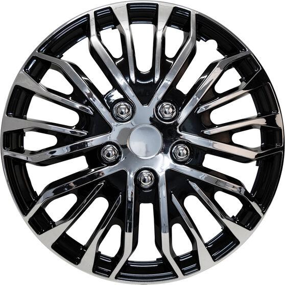 Street Series Wheel Covers - Plasma 16in, Black / Chrome, 4 Pack, , scaau_hi-res