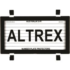 Altrex Motorbike Number Plate Protector - With Lines, 9DMBL, , scaau_hi-res