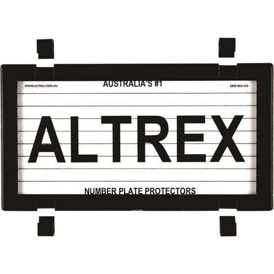 Altrex Motorbike Number Plate Protector With Lines