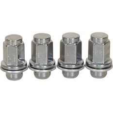 Wheel Nuts, Shank, Chrome - For Various Toyota, 12x1.5MM, , scaau_hi-res