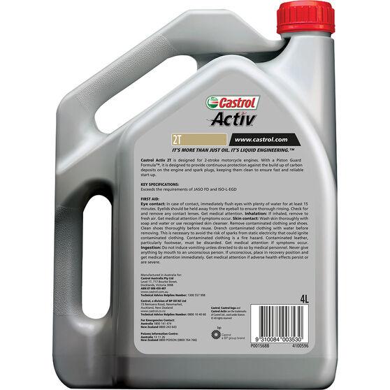 Castrol Activ 2T Motorcycle Oil 4 Litre, , scaau_hi-res