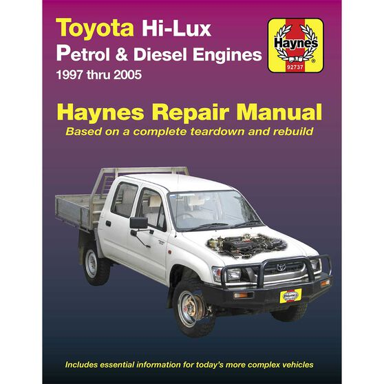 Haynes Car Manual Toyota Hilux 1997-2005 - 92737, , scaau_hi-res