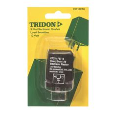 Tridon Electronic Flasher Relay Unit, Load Sensitive - 12V, 3 Pin, , scaau_hi-res